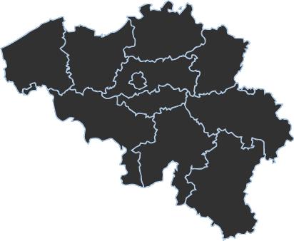 carte de la belgique