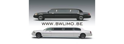 Black and white limousines